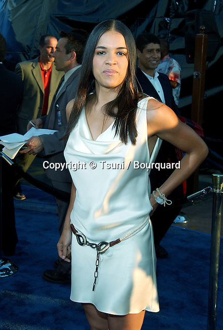 Michelle Rodriguez arriving at the Blue Crush premiere at the Universal Amphitheatre in Los Angeles. August 8, 2002.           -            RodriguezMichelle04.jpg