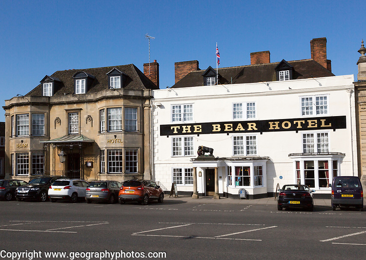 Historic buildings The Bear Hotel, Devizes, Wiltshire, England, UK,