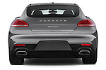 Straight rear view of 2015 Porsche Panamera - 5 Door Hatchback 2WD Rear View  stock images