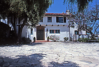 The Adamson House, designed by a well-known architect, Stiles Clements, constructed beginning in 1929. Built for Rhoda Rindge Adamson and her husband, Merritt Huntley Adamson. Situated near the Malibu Pier between popular Surfrider Beach and the Malibu Lagoon, the house boasts an exotic mix of Spanish and Moorish influences.It is now the Malibu Lagoon Museum. Photo--July 1989.July 1989