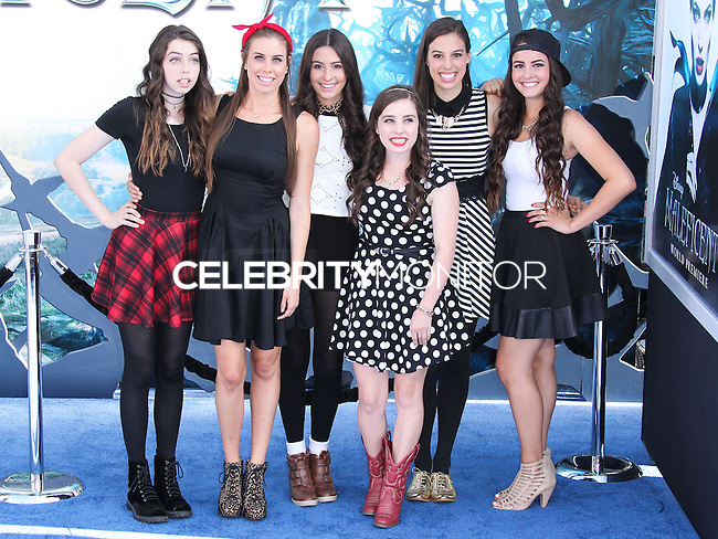 HOLLYWOOD, LOS ANGELES, CA, USA - MAY 28: Cimorelli at the World Premiere Of Disney's 'Maleficent' held at the El Capitan Theatre on May 28, 2014 in Hollywood, Los Angeles, California, United States. (Photo by Xavier Collin/Celebrity Monitor)