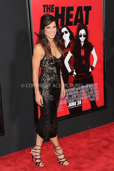 WWW.ACEPIXS.COM<br /> June 23, 2013...New York City <br /> <br /> Sandra Bullock attending 'The Heat' New York Premiere at the Ziegfeld Theatre on June 23, 2013 in New York City.<br /> <br /> Please byline: Kristin Callahan... ACE<br /> Ace Pictures, Inc: ..tel: (212) 243 8787 or (646) 769 0430..e-mail: info@acepixs.com..web: http://www.acepixs.com