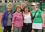 Pictured at the official opening of the upgraded courts at Westport Tennis Club were Joan Warnock, Julia Thompson, Seosamh McNally, Bronagh Sweeney, and Geena Gaffney<br /> Pic Conor McKeown