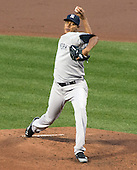 New York Yankees pitcher Ivan Nova (47) pitches in the first inning against the Baltimore Orioles at Oriole Park at Camden Yards in Baltimore, MD on Monday, April 9, 2012..Credit: Ron Sachs / CNP.(RESTRICTION: NO New York or New Jersey Newspapers or newspapers within a 75 mile radius of New York City)