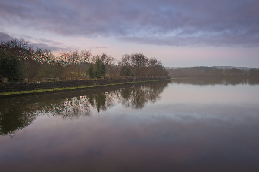 Dawn at Worsbrough Reservoir, Barnsley, South Yorkshire on Friday 22nd December 2017.