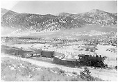 #1187 standard gauge engine on track.  A disarray of box cars and stock cars of track and at various angles.  Possibly on Creede or Farmington branches.<br /> D&amp;RGW  possibly Creede branch, CO