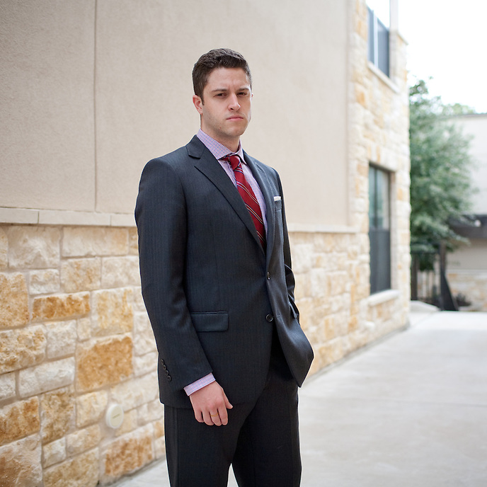Cody Wilson, a law student at the University of Texas, is working to design and create a gun using 3-D printing technology. Copyright Lance Rosenfield