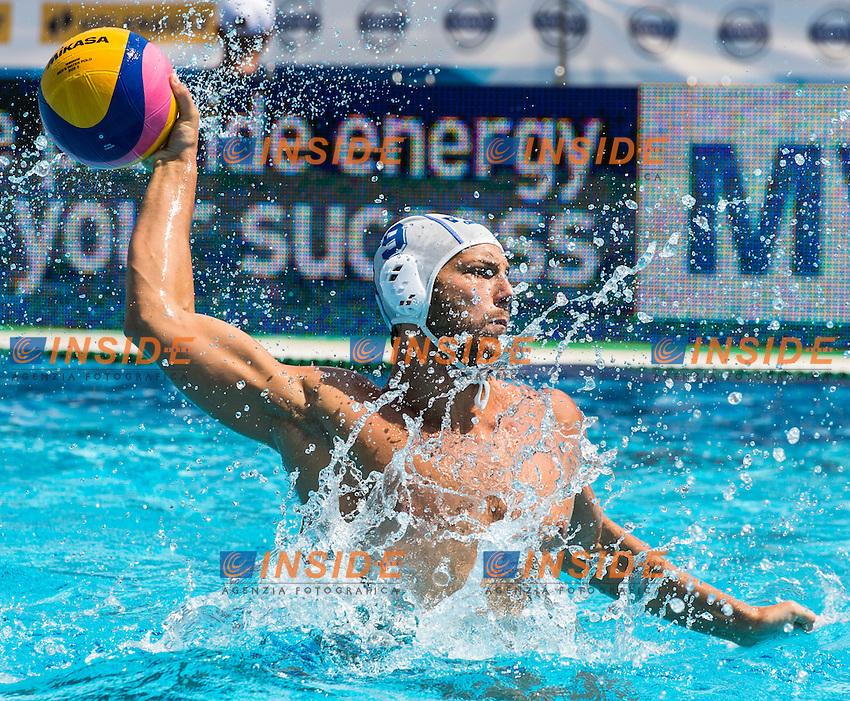9 FIGARI Niccolo ITA<br /> ITA(white) vs GEO(blue) Men<br /> LEN European Water Polo Championships 2014 - July 14-27<br /> Alfred Hajos -Tamas Szechy Swimming Complex<br /> Margitsziget - Margaret Island<br /> Day04 - July 17 <br /> Photo G. Scala/Inside/