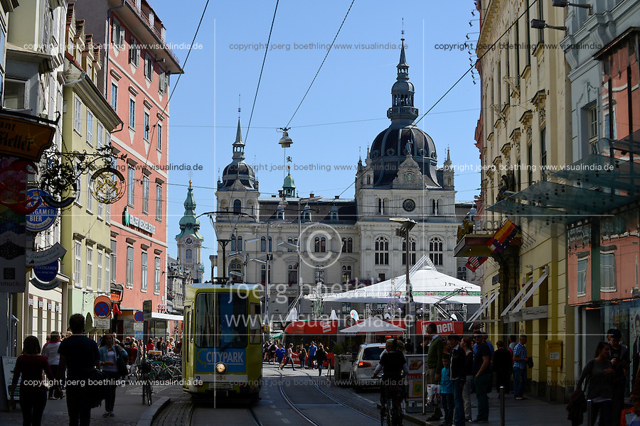 AUSTRIA Styria Graz, town hall and central market place