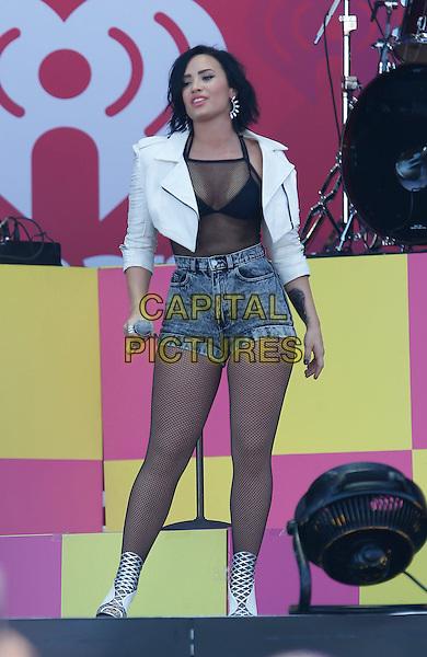 19 September 2015 - Las Vegas, NV - Demi Lovato.  2015 iHeartRadio Music Festival Village at MGM Village.  <br /> CAP/ADM/MJT<br /> &copy; MJT/AdMedia/Capital Pictures