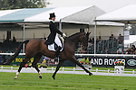 Willa Newton riding Neelix during the Dressage phase of the 2012 Land Rover Burghley Horse Trials in Stamford, Lincolsnhire
