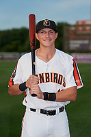 Aberdeen IronBirds Toby Welk (16) poses for a photo before a NY-Penn League game against the Vermont Lake Monsters on August 19, 2019 at Leidos Field at Ripken Stadium in Aberdeen, Maryland.  Aberdeen defeated Vermont 6-2.  (Mike Janes/Four Seam Images)