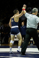 STATE COLLEGE, PA -DECEMBER 19: Garett Hammond of the Penn State Nittany Lions after winning a match against Chris Moon of the Virginia Tech Hokies on December 19, 2014 at Recreation Hall on the campus of Penn State University in State College, Pennsylvania. Penn State won 20-15. (Photo by Hunter Martin/Getty Images) *** Local Caption *** Garett Hammond