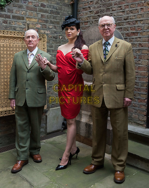Gilbert &amp; George and Victoria appear together ahead of Serpentine&rsquo;s 10th annual festival of ideas which this year focuses n the topic of transformation, at Gilbert &amp; George&rsquo;s studio, London. Gilbert &amp; George and &lsquo;Victoria&rsquo; join more than 90 participants from the worlds of art, architecture, design, literature, science, music and philosophy &ndash; each of whom will make 20 minute presentations on topics including transgender politics and shifting attitudes; adaptation and the environment; the transformative potential of micro-politics; changes in art, literature and design and the futurology of cyborgs, bio-engineering and artificial intelligence.<br /> CAP/JOR<br /> &copy;JOR/Capital Pictures