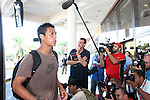 04 September 2008: Michael Orozco (USA) walks past the media on his way into the hotel. The United States Men's National Team held a press conference at the Melia Cohiba Hotel in Havana, Cuba after arriving from the airport.