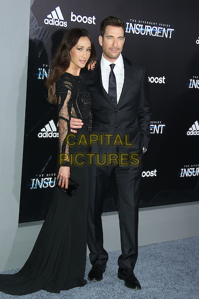 NEW YORK, NY - MARCH 16: Maggie Q and Dylan McDermott at the New York premiere of The Divergent Series: Insurgent at the Ziegfeld Theatre in New York City on March 16, 2015. <br /> CAP/MPI/RW<br /> &copy;RW/MPI/Capital Pictures