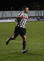 Mark Williams celebrates scoring the winning penalty at the Falkirk v St Mirren  Scottish Football Association Youth Cup 4th Round match played at the Falkirk Stadium, Falkirk on 16.12.12.