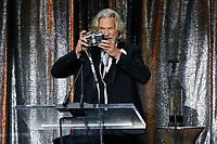 ASC Board of Governors Award honoree Jeff Bridges uses a Widelux panoramic camera to take a photo of the crowd as he accepts his award at the 33rd annual ASC Awards and The American Society of Cinematographers 100th Anniversary Celebration at the Ray Dolby Ballroom at Hollywood &amp; Highland, Saturday, February 9, 2019 in Hollywood, California.  <br /> CAP/MPI/IS<br /> &copy;IS/MPI/Capital Pictures