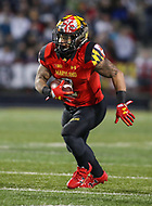 College Park, MD - November 25, 2017: Maryland Terrapins running back Lorenzo Harrison III (2) runs the ball during game between Penn St and Maryland at  Capital One Field at Maryland Stadium in College Park, MD.  (Photo by Elliott Brown/Media Images International)