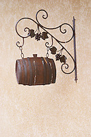 wrought iron sign dom g robin crozes hermitage rhone france