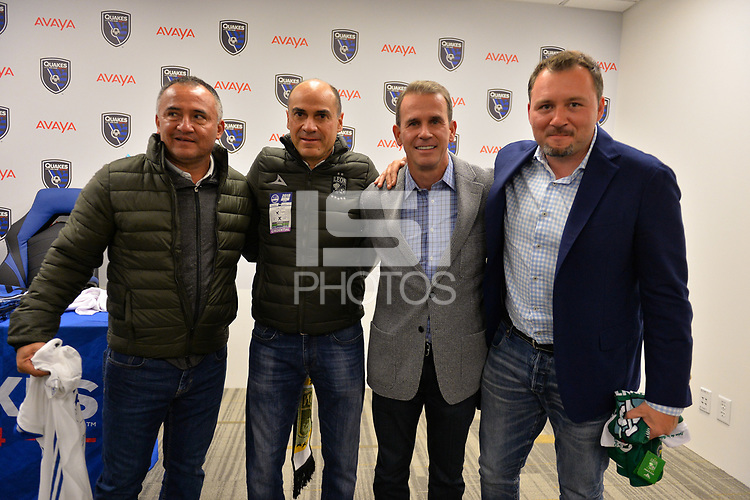 San Jose, CA - Saturday March 24, 2018: Tom Fox, Jesse Fioranelli during an international friendly between the San Jose Earthquakes and Club Leon FC at Avaya Stadium.