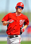28 February 2011: Washington Nationals' outfielder Bryce Harper warms up prior to a Spring Training game against the New York Mets at Digital Domain Park in Port St. Lucie, Florida. The Nationals defeated the Mets 9-3 in Grapefruit League action. Mandatory Credit: Ed Wolfstein Photo