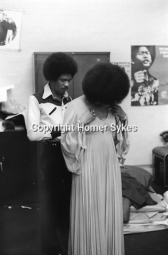 """Bob and Marcia. Young Gifted and Black"""" first British tour 1970s England. Bob Andy and Marcia Griffith. 1970, Boston Stump Lincolnshire. Bob Andy and Marcia Griffiths."""