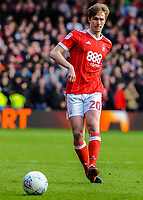 Nottingham Forest's forward Kieran Dowell (20) during the Sky Bet Championship match between Nottingham Forest and Derby County at the City Ground, Nottingham, England on 10 March 2018. Photo by Stephen Buckley / PRiME Media Images.