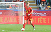 20180904 - LEUVEN , BELGIUM : Belgian Aline Zeler pictured during the female soccer game between the Belgian Red Flames and Italy , the 8th and last game in the qualificaton for the World Championship qualification round in group 6 for France 2019, Tuesday 4 th September 2018 at OHL Stadion Den Dreef in Leuven , Belgium. PHOTO SPORTPIX.BE | DAVID CATRY