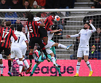 29th February 2020; Vitality Stadium, Bournemouth, Dorset, England; English Premier League Football, Bournemouth Athletic versus Chelsea; Jefferson Lerma of Bournemouth scores with a header in 54th minute for 1-1