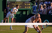London, England, 3 July, 2019, Tennis,  Wimbledon, Womans doubles : Demi Schuurs (NED) and Anna-Lena Groenefeld (GER) (R)<br /> Photo: Henk Koster/tennisimages.com
