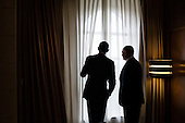 United States President Barack Obama and Prime Minister Benjamin Netanyahu of Israel look out a window before their lunch at the King David Hotel in Jerusalem, March 22, 2013. .Mandatory Credit: Pete Souza - White House via CNP