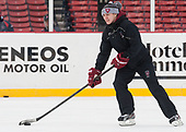 Lee-J Mirasolo (Harvard - Assistant Coach) - The Harvard University Crimson practiced at Fenway on Monday, January 9, 2017, in Boston, Massachusetts.