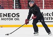 Lee-J Mirasolo (Harvard - Assistant Coach) - The Harvard University Crimson practiced at Fenway on Monday, January 9, 2017, in Boston, Massachusetts.