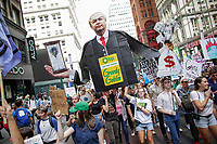 NEW YORK, NY - SEPTEMBER 20: Activists attend a rally for action on climate change on September 20, 2019 in New York City. People world wide participate in a day of protest calling for urgent action to fight climate change.(Photo by Kena Betancur/VIEWpress)