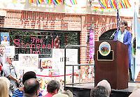 NEW YORK, NY - JUNE 27:  Senior Advisor to President Obama Valerie Jarrett speaking at the Stonewall Inn National Monument designation ceremony the first LGBTQ institution to receive national monument status in New York, New York on June 27, 2016.  Photo Credit: Rainmaker Photo/MediaPunch