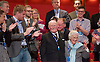 Conservative Party Conference, ICC, Birmingham, Great Britain <br /> 1st October 2014<br /> <br /> Rt Hon David Cameron MP The Prime Minister<br /> Leader of the Conservatives <br /> speech <br /> <br /> Mr Patrick Churchill aged 91 and his wife <br /> <br /> <br /> Photograph by Elliott Franks <br /> Image licensed to Elliott Franks Photography Services