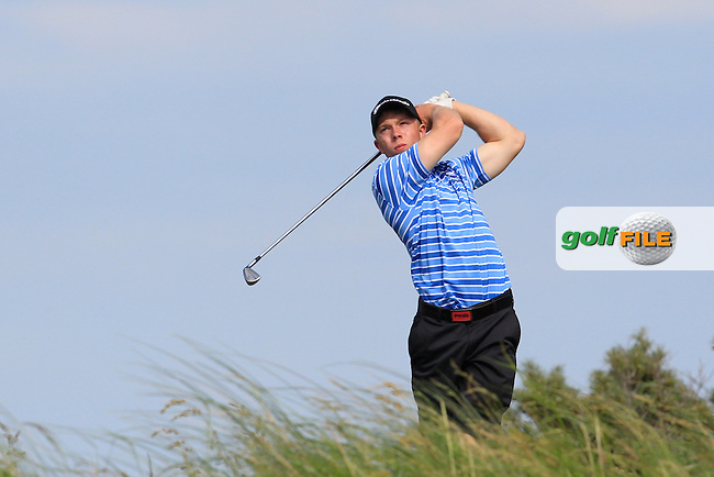 Cathal Butler (Kinsale) on the 8th tee during Round 1 of the Ulster Boys Championship at Castlerock Golf Club on Tuesday 30th June 2015.<br /> Picture:  Golffile | Thos Caffrey
