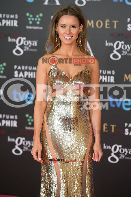 Manuela Velles attend the 2015 Goya Awards at Auditorium Hotel, Madrid,  Spain. February 07, 2015.(ALTERPHOTOS/)Carlos Dafonte) /NORTEphoto.com