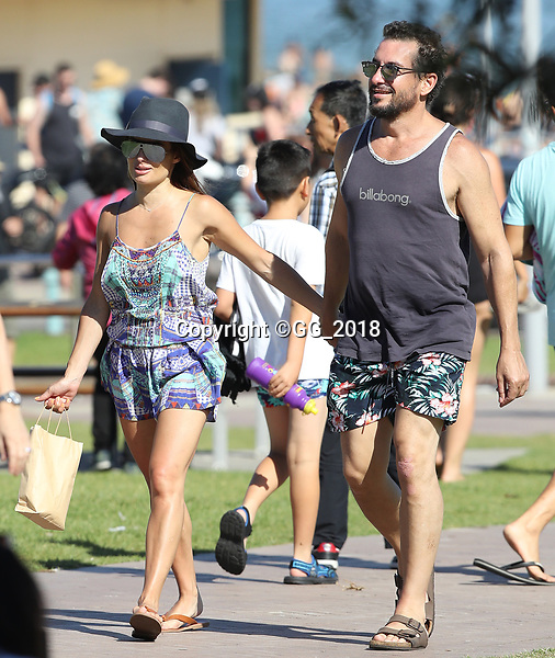 Ada Nicodemou pictured looking happy and in love with her partner Adam Rigby in Bondi.<br /> <br /> ** NO SUB DEALS**<br /> <br /> Where image credits are published, &quot;KHAPGG&quot; must be included. KHAPGG reserves the right to reverse any prior publishing or usage permissions where &quot;KHAPGG&quot; credits have been excluded from published image credits.