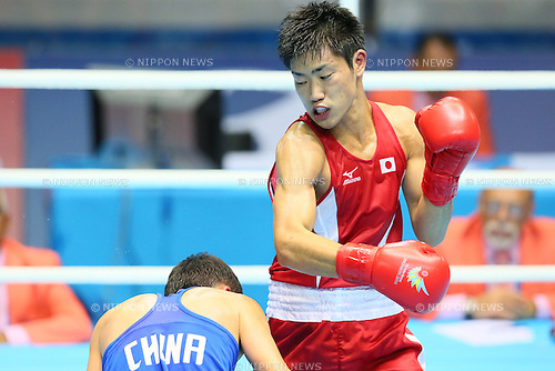 Kenji Fujita (JPN), <br /> SEPTEMBER 26, 2014 - Boxing : <br /> Men's Bantam (-56kg) <br /> at Seonhak Gymnasium <br /> during the 2014 Incheon Asian Games in Incheon, South Korea. <br /> (Photo by YUTAKA/AFLO SPORT)