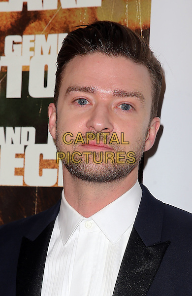 Justin Timberlake<br /> The World Premiere of &quot;Runner Runner&quot; at Planet Hollywood Resort and Casino Las Vegas, Las Vegas, NV., USA.<br /> September 18th, 2013<br /> headshot portrait stubble beard facial hair black suit white shirt<br /> CAP/ADM/MJT<br /> &copy; MJT/AdMedia/Capital Pictures
