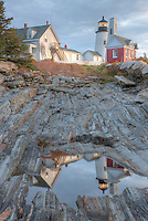 Pemaquid Point Lighthouse and reflection, Bristol, Maine