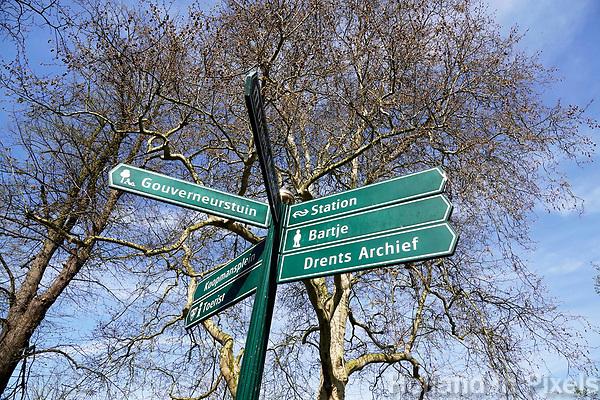 Nederland - Assen-  April  2019.  Wegwijzer.   Foto Berlinda van Dam / Hollandse Hoogte