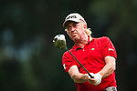 Miguel Angel Jimenez in actions during Round 1 of the UBS Hong Kong Golf Open 2011 at Fanling Golf Course in Hong Kong on 1st December 2011. Photo © Victor Fraile / The Power of Sport Images