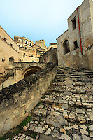 These ancient steps are very primitive. Because of its similarity to Jerusalem, several movies have been filmed in Matera's sassi district including Mel Gibson's, The Passion of the Christ.  The sassi district is a UNESCO World Heritage Site.