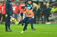 Javier Hernandez of West Ham United warms up  during West Ham United vs Fulham, Premier League Football at The London Stadium on 22nd February 2019