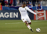 Real Salt Lake defender Chris Schuler (28) in action during the game between the FC Dallas and the Real Salt Lake at the FC Dallas Stadium in Frisco,Texas...