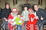 Geraldine, Oisin, Jack and Aeneas O'Leary Gneeveguilla who met Santa and Mrs Claus at the launch of the Christmas in Killarney campaign in the Malton Hotel on Saturday..