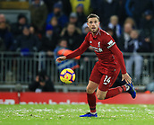 30th January 2019, Anfield, Liverpool, England; EPL Premier League football, Liverpool versus Leicester City; Jordan Henderson of Liverpool  controls the ball in a wide position